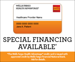 LASIK financing available through Wells Fargo Health Advantage